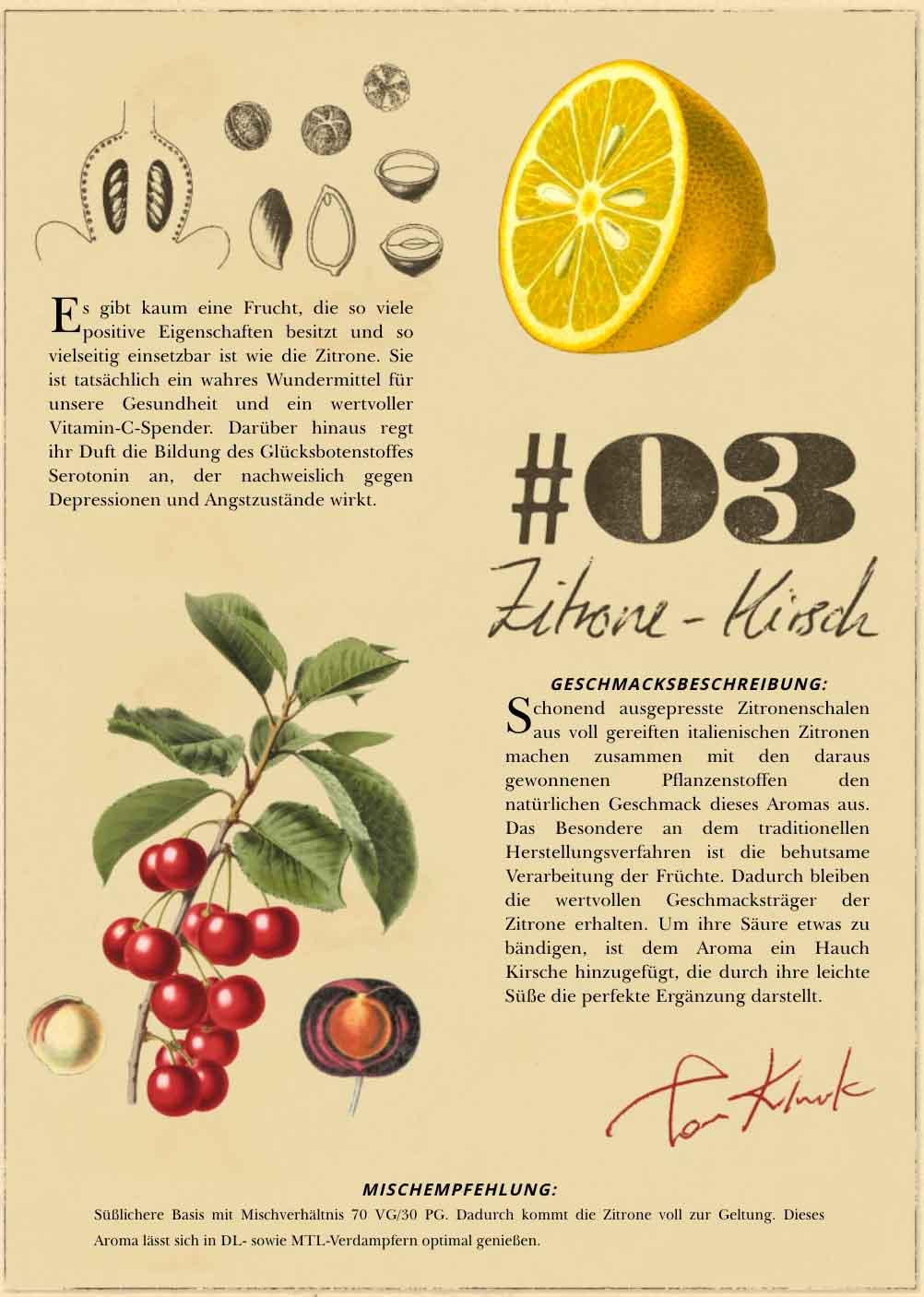 Tom Klarks No.3 Zitrone Kirsche