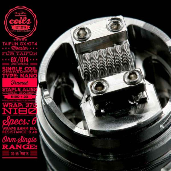 Tasty Ohm Coils Taifun GX/GT4 Monster