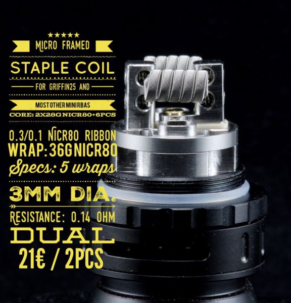 Tasty ohm - Micro Framed Staple Coil