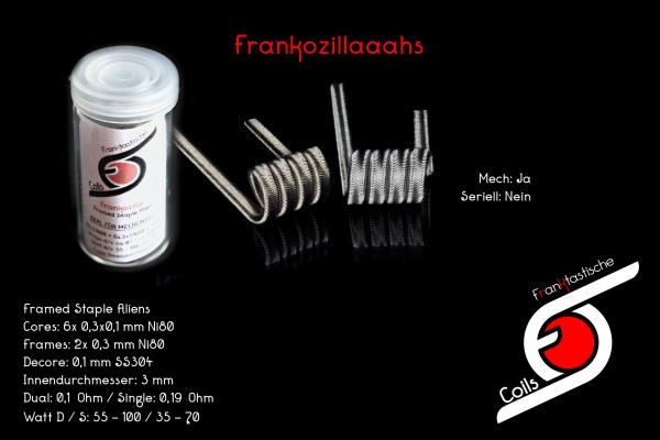 Franktastische Coils - Frankozilla V1 Framed Staple Alien Dual Set