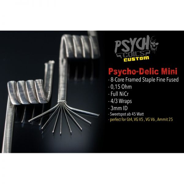 Psycho Coils - Custom Psycho-Delic Small Single 0.15 Ohm
