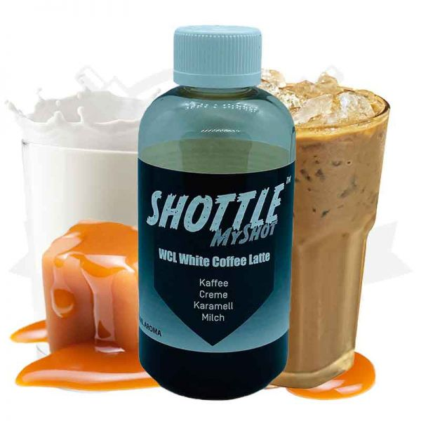 Darkstar Bottle Shot White Coffee Latte 50ml Aroma