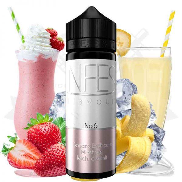 NFES - No.6 Banane Erdbeere Milkshake Aroma