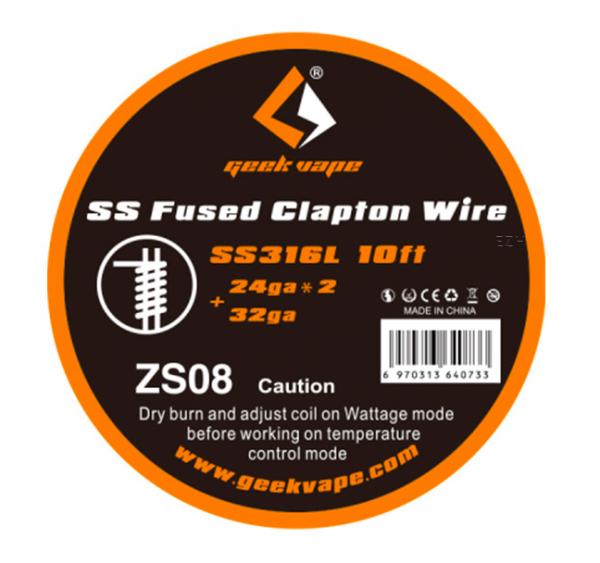 Geek Vape 3m SS316L Fused Clapton Wickeldraht