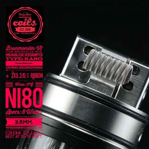 Tasty Ohm Coils Brunmonster V2 Nano FS Alien Coil