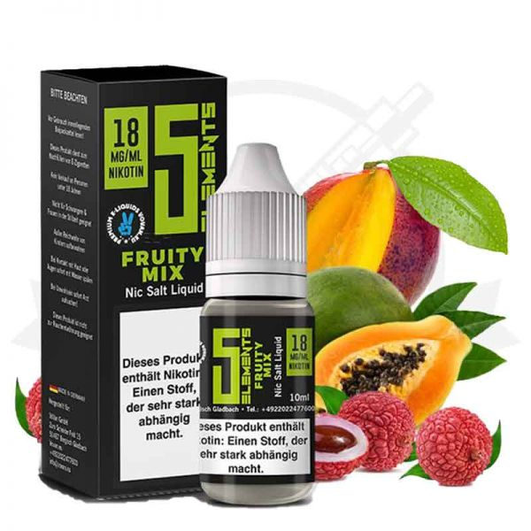5 Elements Fruity Mix Nikotinsalz Liquid