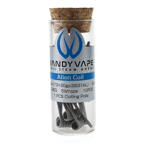 Vandy Vape Prebuilt A1 SS316L Alien Coil 26ga*3/30ga 0.28 Ohm