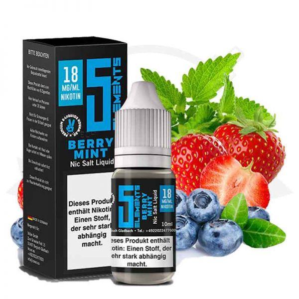 5 Elements Berry Mint Nikotinsalz Liquid