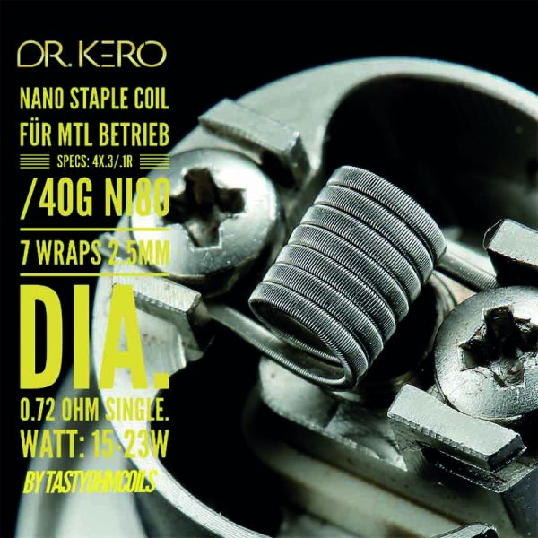 Dr.Kero MTL Nano Staple Coil