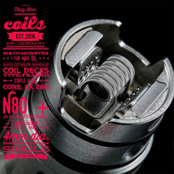 Tasty Ohm Coils Mato Monster Coil