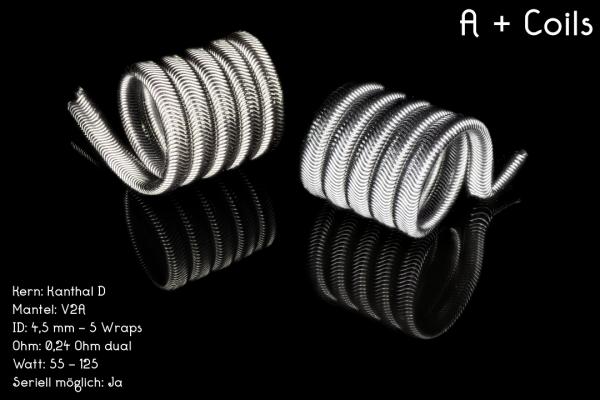 Franktastische Coils - A+ Coil 0,24 Ohm dual