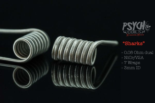 Psycho Coils - Xtreme Mech Sharks 0,08 ohm