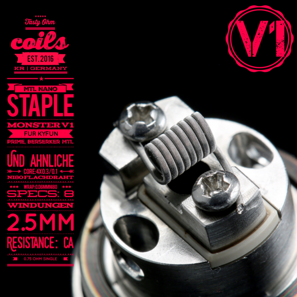 Tasty ohm - MTL Nano Staple Monster V1