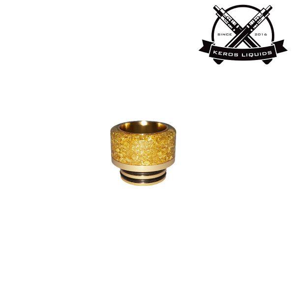 810 Gold Glitzer Widebore Drip Tip