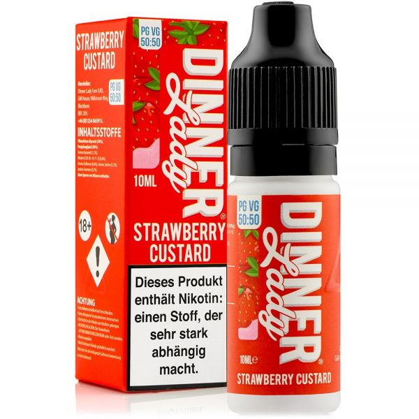 Dinner Lady - Strawberry Custard Liquid 10ml