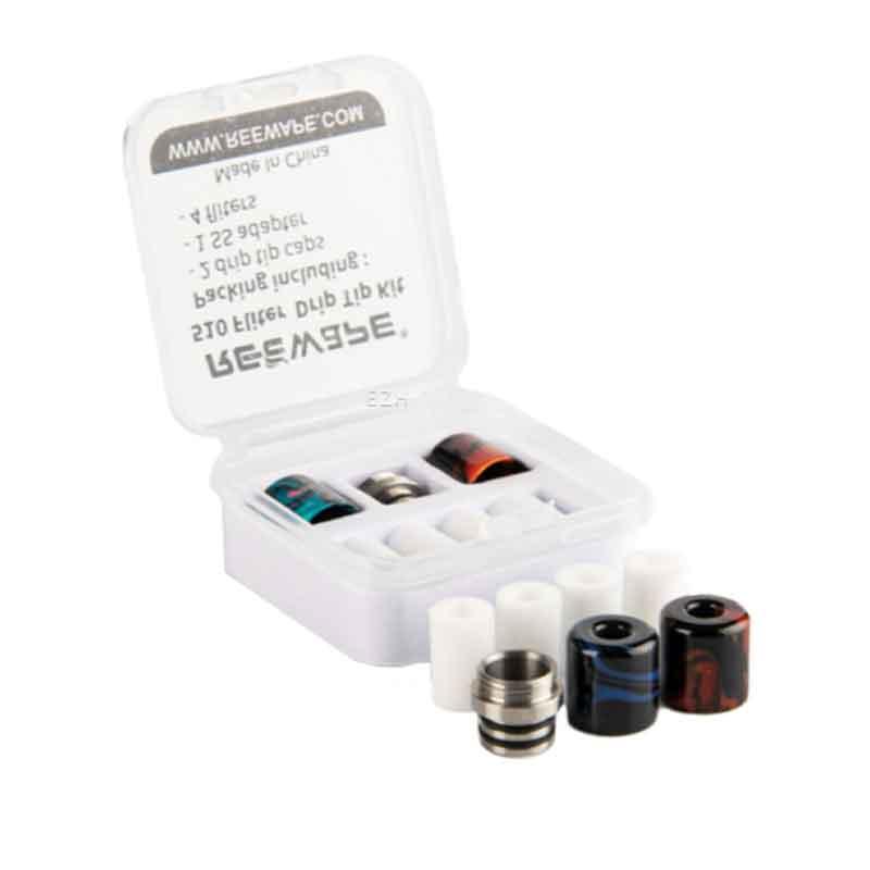 4x-Reewape-Small-Resin-510-Drip-Tip-mit-Filter