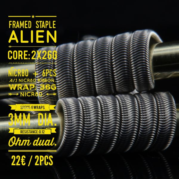 Tasty ohm - Framed Staple Alien